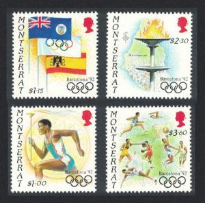 Montserrat Summer Olympic Games Barcelona 4v 1992 MNH SG#876-879