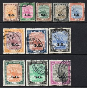 South Sudan 1948 KGVI OFFICIAL p/set (11v used