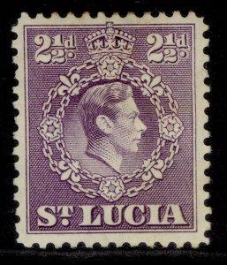 ST. LUCIA GVI SG132b, 2½d violet, M MINT.