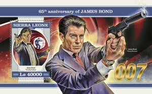 Sierra Leone James Bond Stamps 2018 MNH Cars Timothy Dalton Pierce Brosnan 1v SS