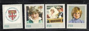Fiji #470-3 comp mnh cv $4.50 Princess Diana