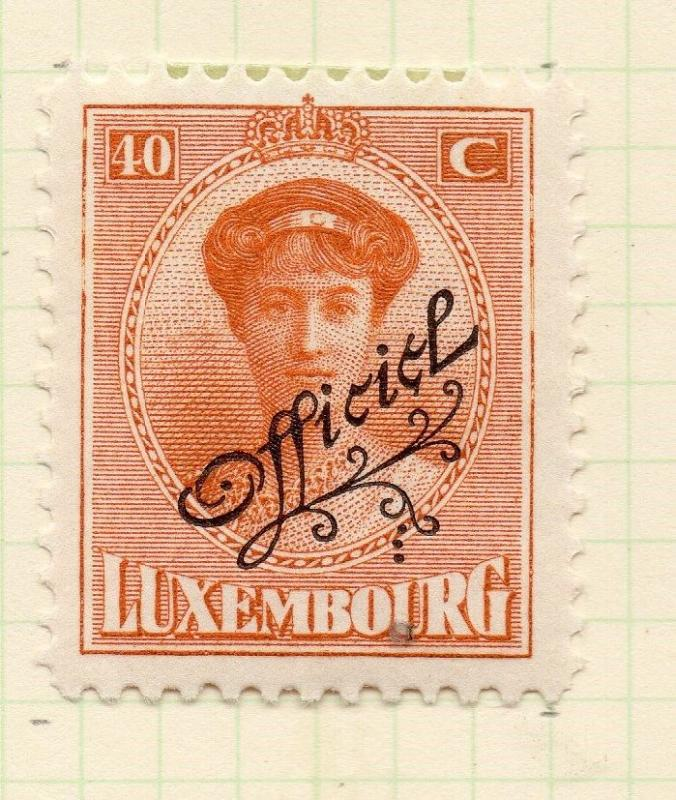 Luxembourg 1921-22 Early Issue Fine Mint Hinged 40c. Official Optd 253204