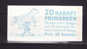 Sweden 1640a Complete Booklet Set MNH Children (A)