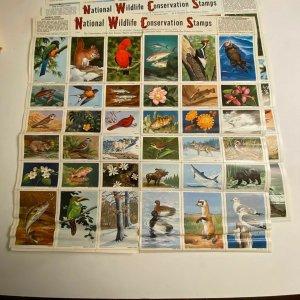 National Wildlife Conservation Stamps jumbo animal seals vtg 50s-60s cinderella