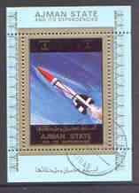 Ajman 1972 History of Space individual perf sheetlet #02 ...