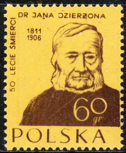 POLOGNE / POLAND - 1956 - Mi983A 60gr Jan Dzierzon, pioneering Apiarist - Mint**