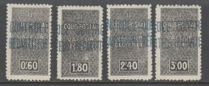 Algeria Y&T 51-54 MLH. 1938 Parcel Post, cplt set, VF