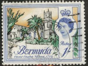 BERMUDA Scott 183 Used 1 Shilling Queen  stamp 1962