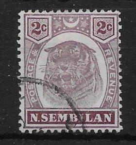 MALAYA NEGRI SEMBILAN SG6 1898 2cDULL PURPLE & BROWN USED