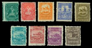 MEXICO 1897-98 Mail Train, Stagecoach, Mule  complete set Scott# 269-278 mint MH
