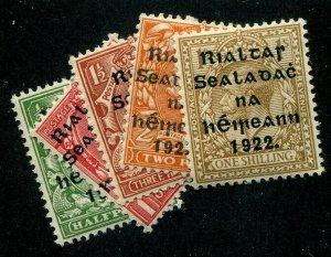 HERRICKSTAMP IRELAND Sc.# 39-43 Scott Retail $68.00 Mint Hinged