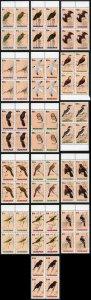 Bahamas SG892/907 1991 Birds set of 16 in U/M Blocks of Four