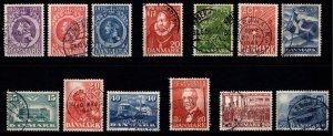 Denmark 1945-49 Commemoratives, Complete Sets [Used]