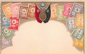 Turkey, Stamp Postcard, #25, Published by Ottmar Zieher, Circa 1905-10, Unused