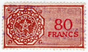 (I.B) France Colonial Revenue : Morocco Duty 80Fr