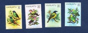 VANUATU - Scott 300-303 - FVF MNH - Birds - 1981