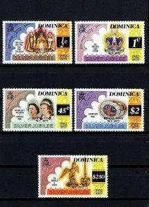 DOMINICA - 1977 - QE II - SILVER JUBILEE - ROYAL VISIT - PERF 12 - MINT MNH SET!