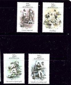 Australia 780-83 MNH 1981 Gold Rush