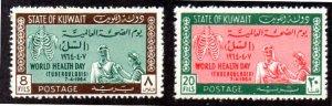 KUWAIT 251-252 MNH SCV $1.90 BIN $1.15 WORLD HEALTH DAY