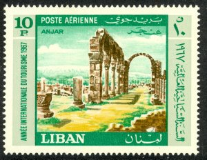 LEBANON 1967 10p International Tourist Year Airmail Sc C511 MNH