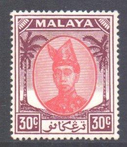 Malaya Trengganu Scott 72 - SG81, 1949 Sultan 30c MH*