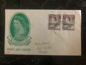 1953 Uganda Kenya Tanganyika First Day Cover FDC QE 2 Queen Elizabeth coronation