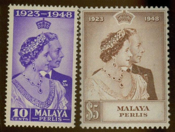 Malaya-Perlis #1-2 MINT VF OG LH Cat$33.50