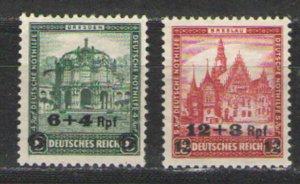 Germany - Third Reich 1932 Sc# B42-B43 MNG VG - semi postal issues