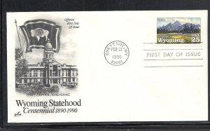 US #2444 Wyoming Statehood Artcraft cachet U/A fdc