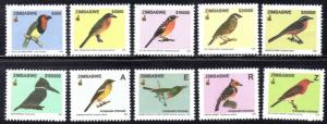 Zimbabwe - 2005 Birds Set MNH** SG 1146-1155