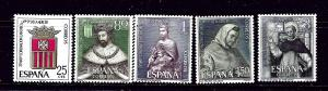 Spain 1182-86 MNH 1963 set