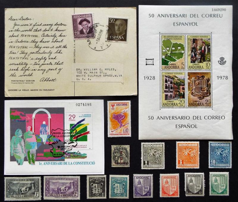 STAMPS AND CARDS FROM ANDORA