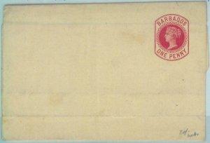 83290 - BARBADOS -   POSTAL STATIONERY  Wrapper - Higgings & Gage  # 2 1882