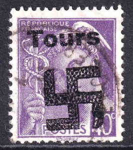 FRANCE 362 TOURS OVERPRINT USED F/VF SOUND