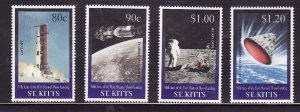 St. Kitts-Sc#460-3- id7-unsed NH set-Space-Moon Landing-1999-