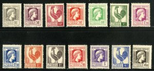 ALGERIA 172-85 MNH-MH SET MISSING 186 SCV $6.00 BIN $ 3.50 PERSON, ROOSTER