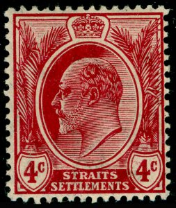MALAYSIA - Straits Settlements SG156, 4c claret, M MINT.