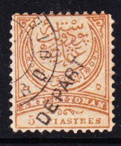 Turkey #71 used with DEPART cancel