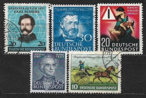 COLLECTION LOT OF 5 GERMANY 1952+ STAMPS CV + $59 (694=MNH)