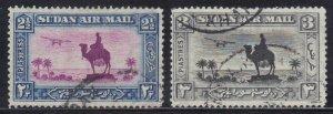 SUDAN SCOTT #C9-C10 1931-35 USED    SEE SCAN