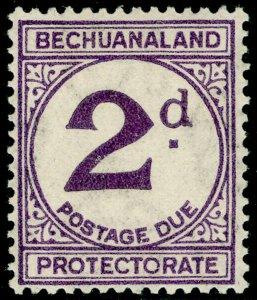 BECHUANALAND SGD6a, 2d violet, M MINT. Cat £160. LARGE d.