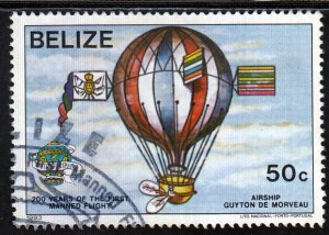 Belize, Sc 1674 (2), Used, 1983, First Manned Flight