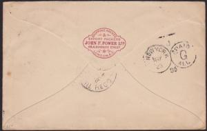 USA 1895 cover ex GB - NEW YORK PAID ALL....................................1276