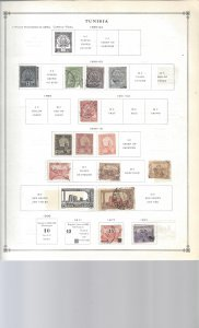 Tunisia 3ea Old Album Pages Start in 1888