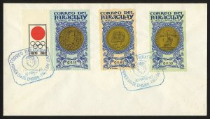 wc032 Paraguay medals March 30, 1965 FDC first day cover