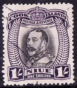 NIUE 1936 1/- Black & Purple SG68 FU
