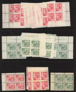 Canada - 1967 Christmas Plate Blocks mint