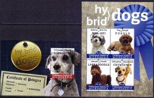 Micronesia. 2012. Small sheet 2318-21 bl212. dogs. MNH.