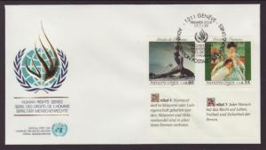 UN Geneva 180-181 Human Rights Geneva U/A FDC