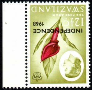 1968 Swaziland Sg 152w 12½c carmine and grey-olive Inverted Watermark UM